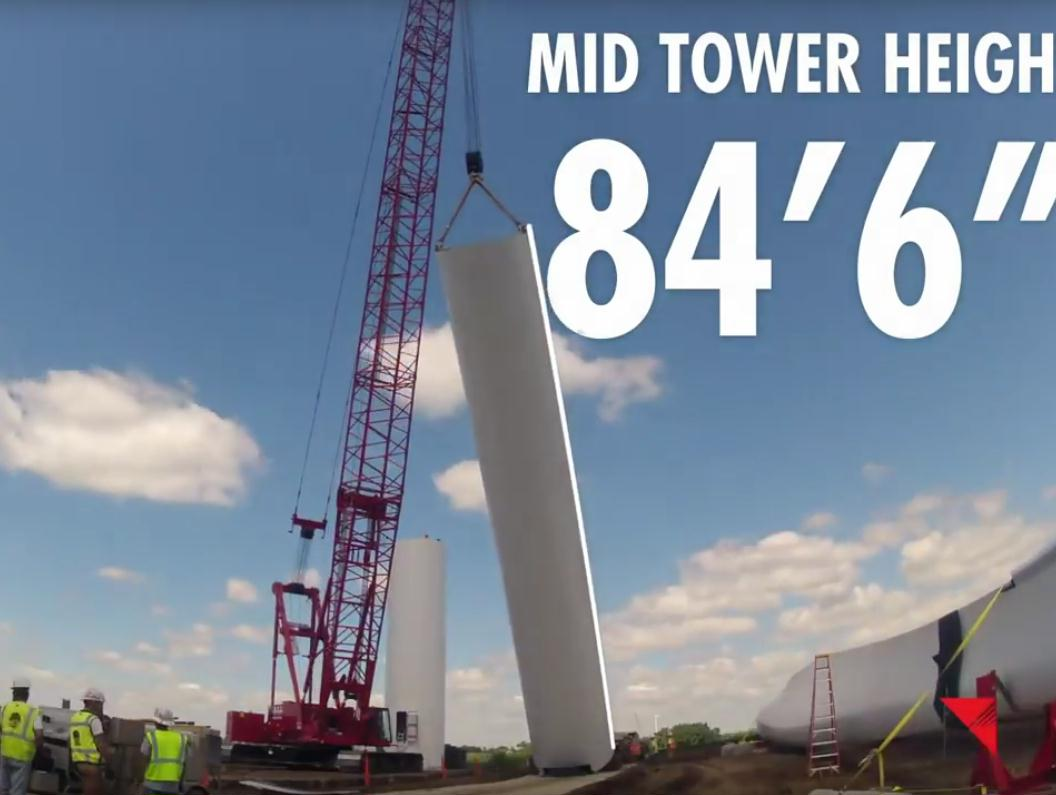 246 mid tower height 84.5 feet