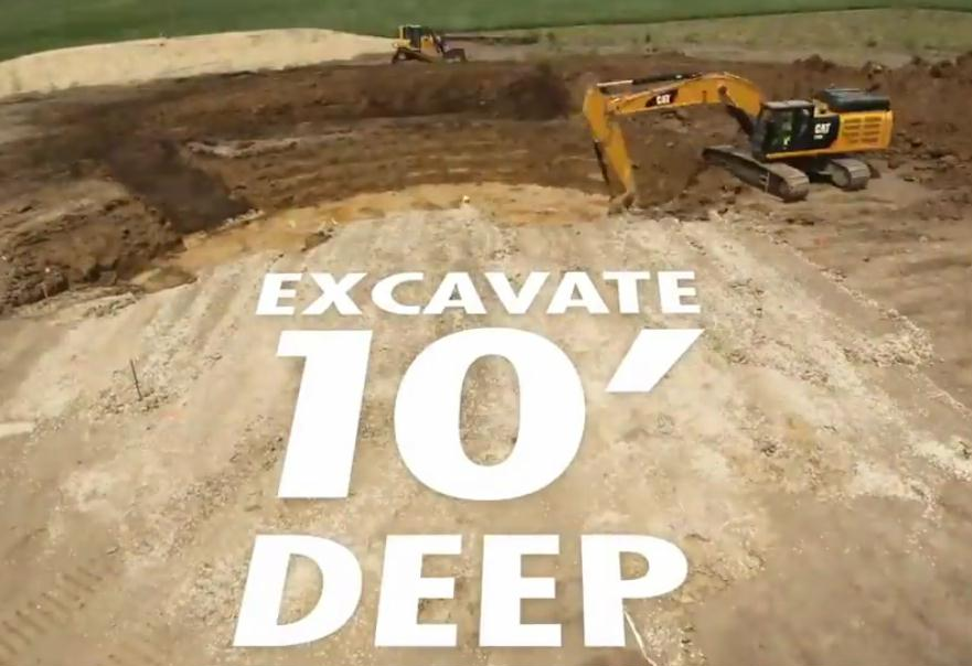 33 excavate 10 feet deep
