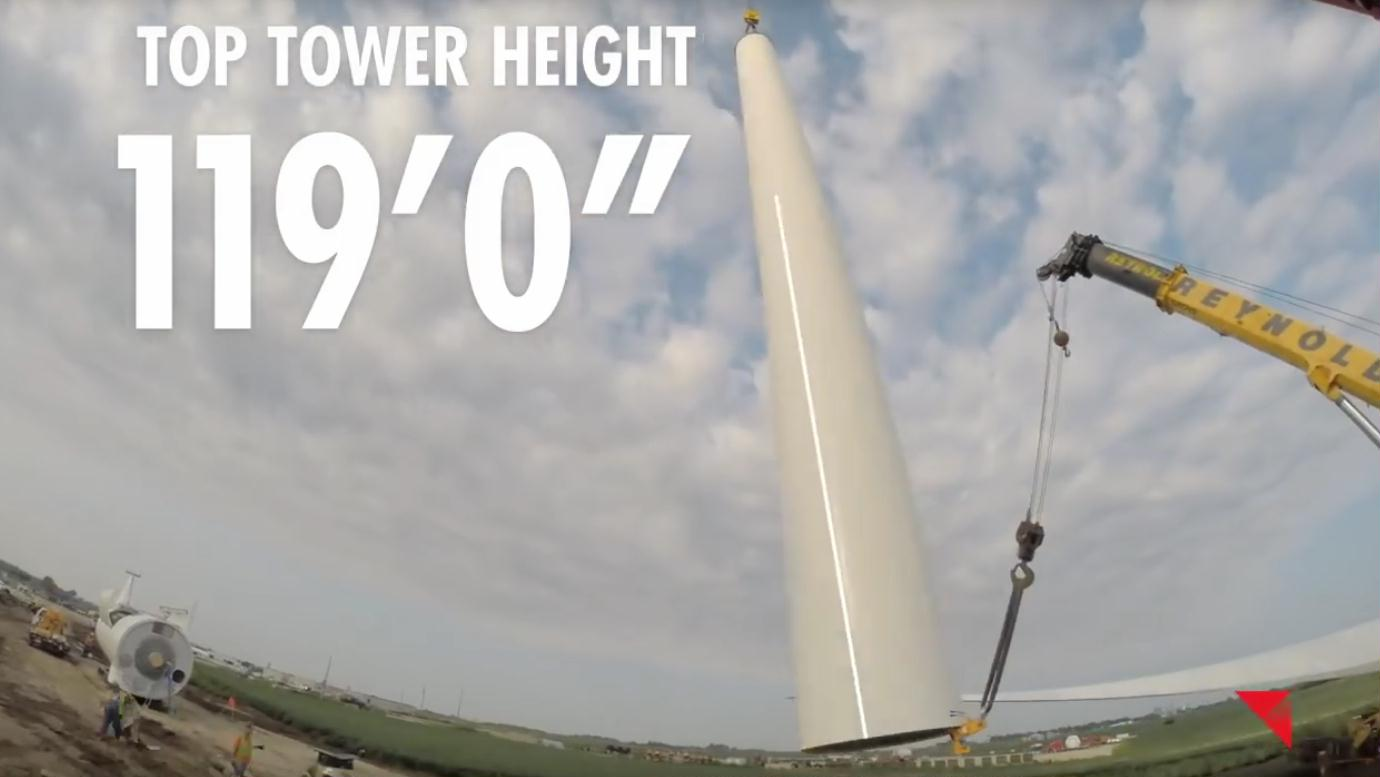 400 top tower height 119 feet